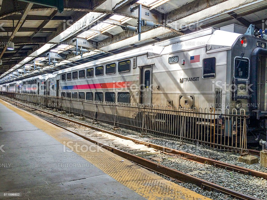 Path on Hoboken Terminal stock photo
