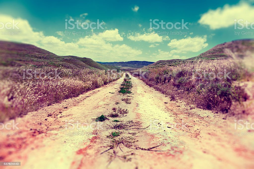 Path through nature.Outdoor sport and adventures. stock photo