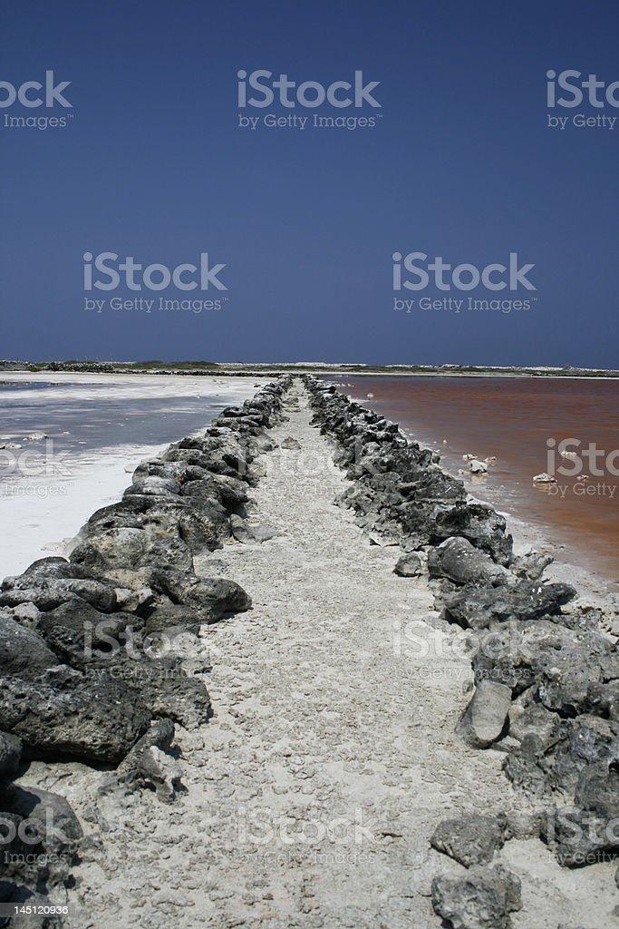 path through saline seas royalty-free stock photo