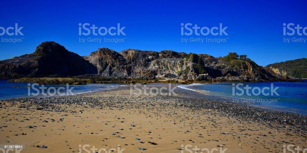 Path to an Island stock photo