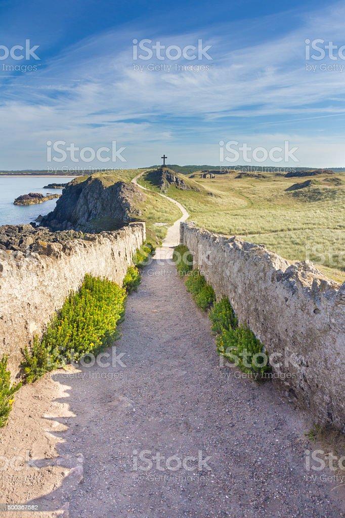 Path to cross stock photo