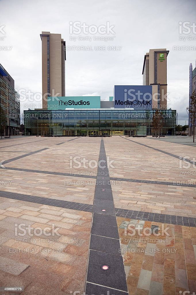 Path to fame, MediaCityUK stock photo