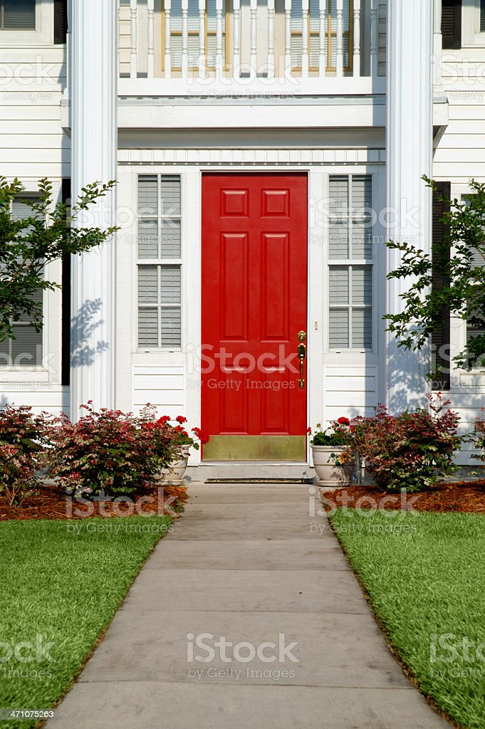 path to front door royalty-free stock photo