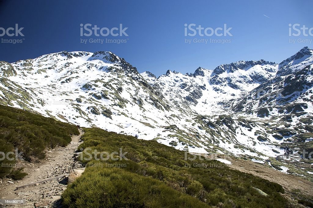 path to gredos valley royalty-free stock photo