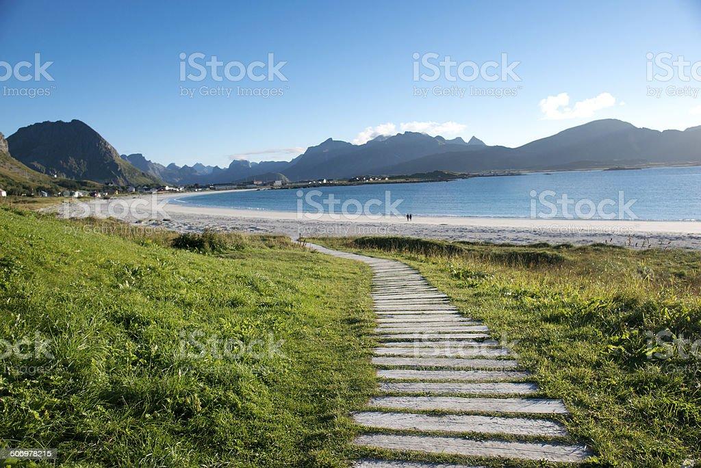 path to heaven stock photo