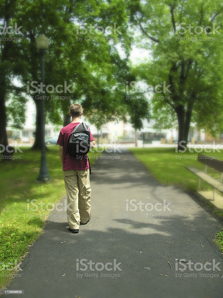Path to Home royalty-free stock photo