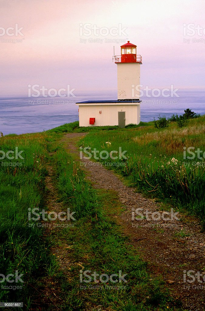 Path to Lighthouse stock photo