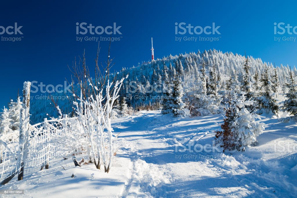 Path to Lysa hora stock photo