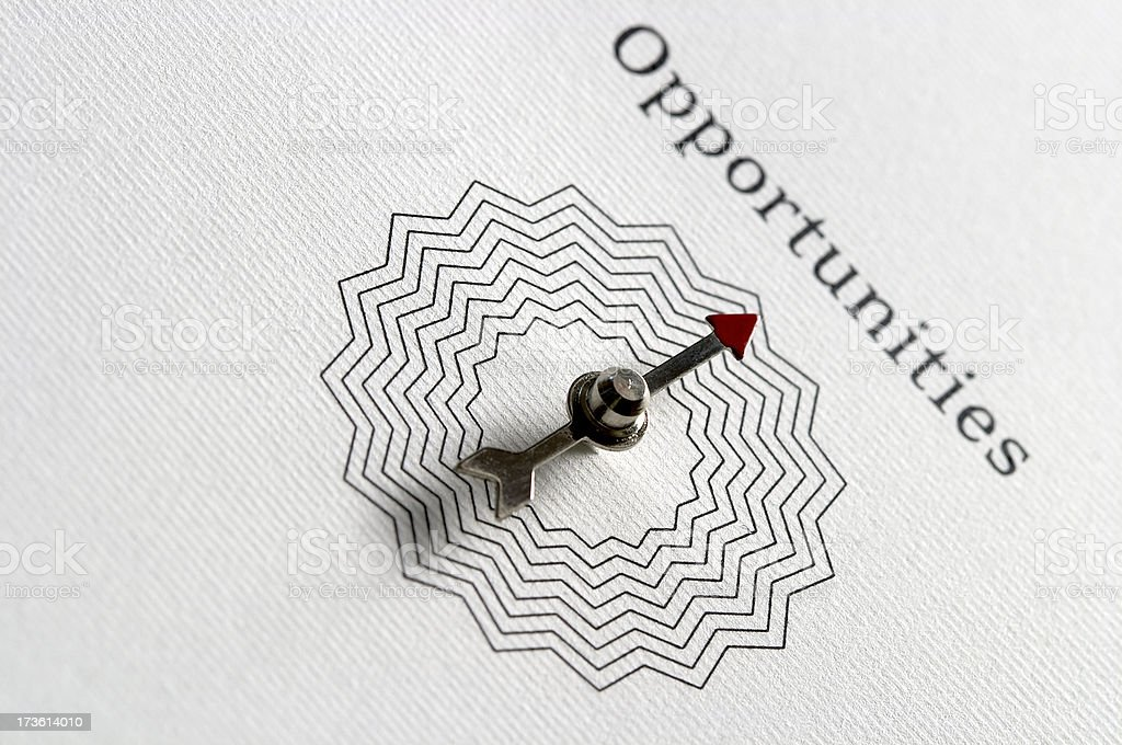 Path to OPPORTUNITIES, compass royalty-free stock photo