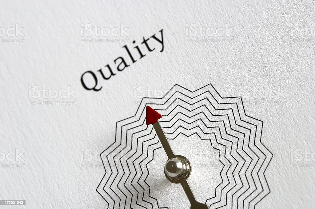 Path to QUALITY, compass royalty-free stock photo