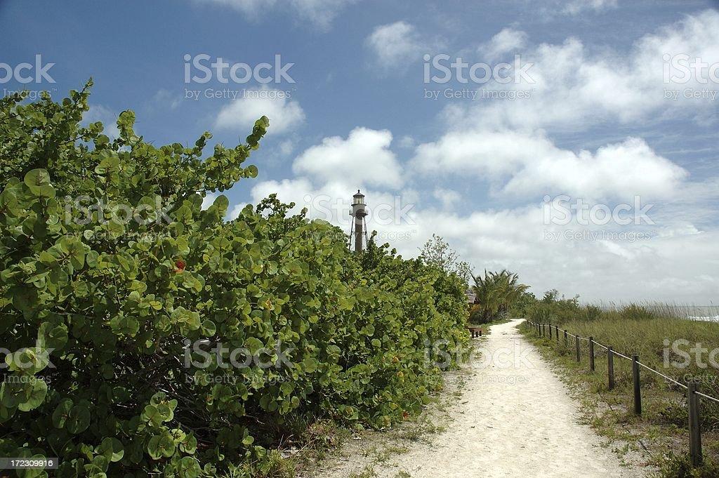Path to Sanibel Island Florida Lighthouse royalty-free stock photo