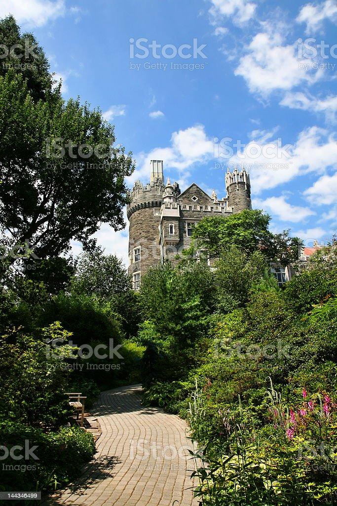 Chemin vers le château-Casa Loma photo libre de droits