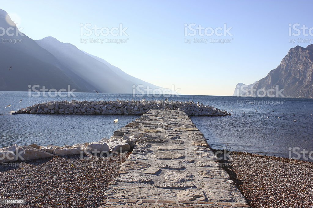 Path to the Lake stock photo