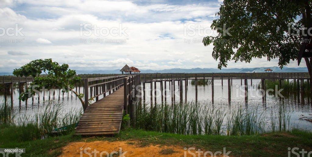 Path to the nature, Khao Sam Roi Yot, Prachuap Khiri Khan, Thailand. stock photo
