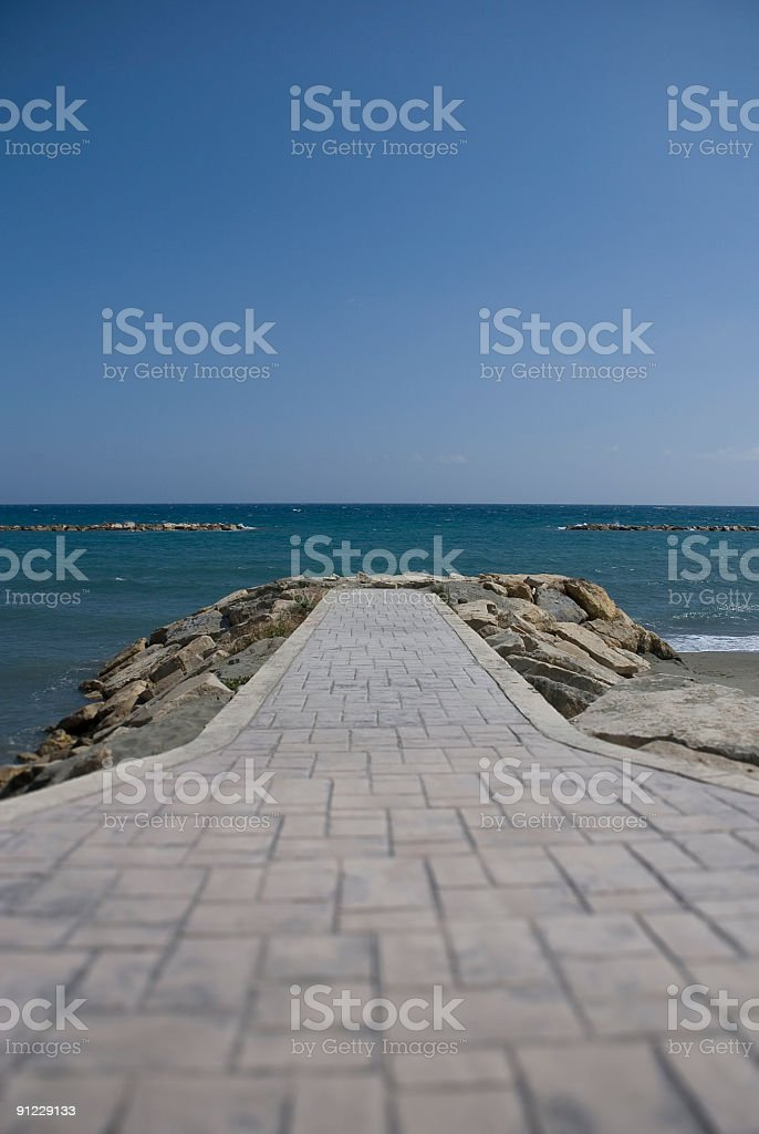 Path to the sea stock photo
