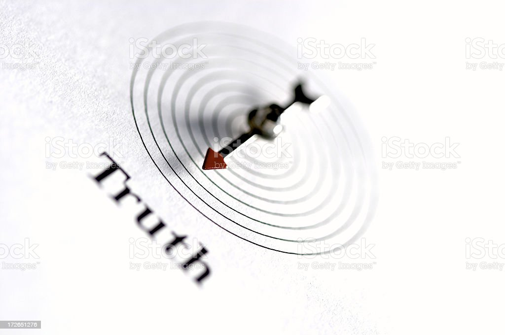 Path to the Truth, Compass royalty-free stock photo