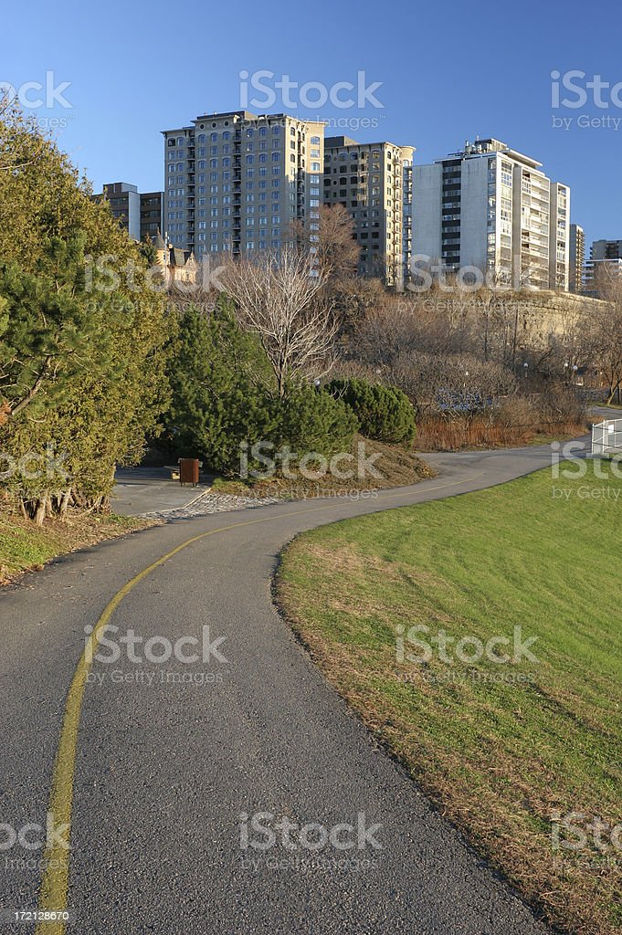 Path to Town royalty-free stock photo
