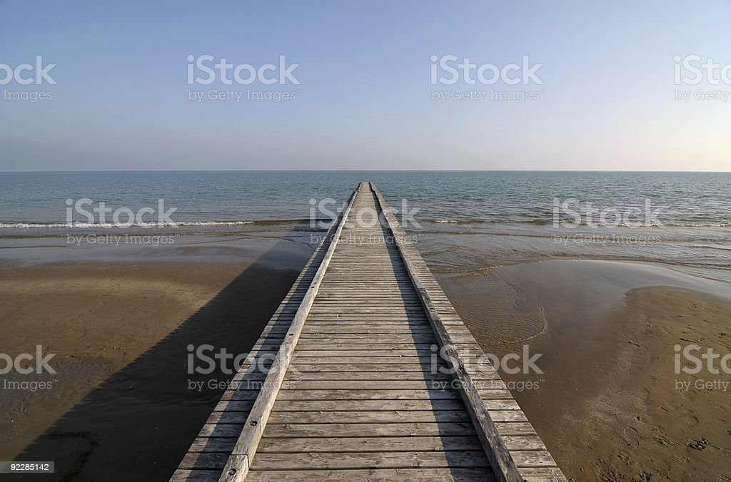 Path to water royalty-free stock photo