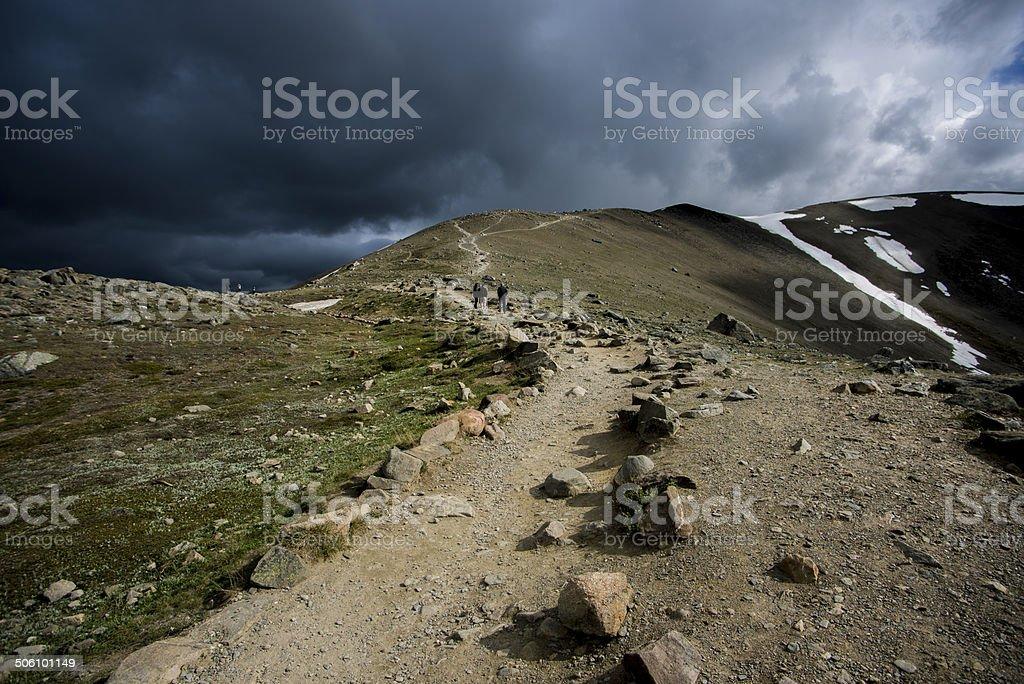 Path to Whistlers Peak stock photo