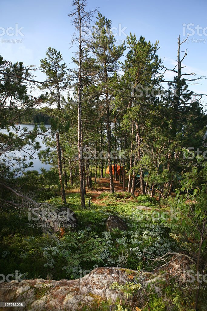 Path to Wilderness Campsite royalty-free stock photo
