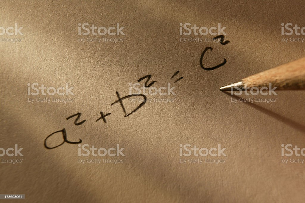Pathagorean Theorem stock photo