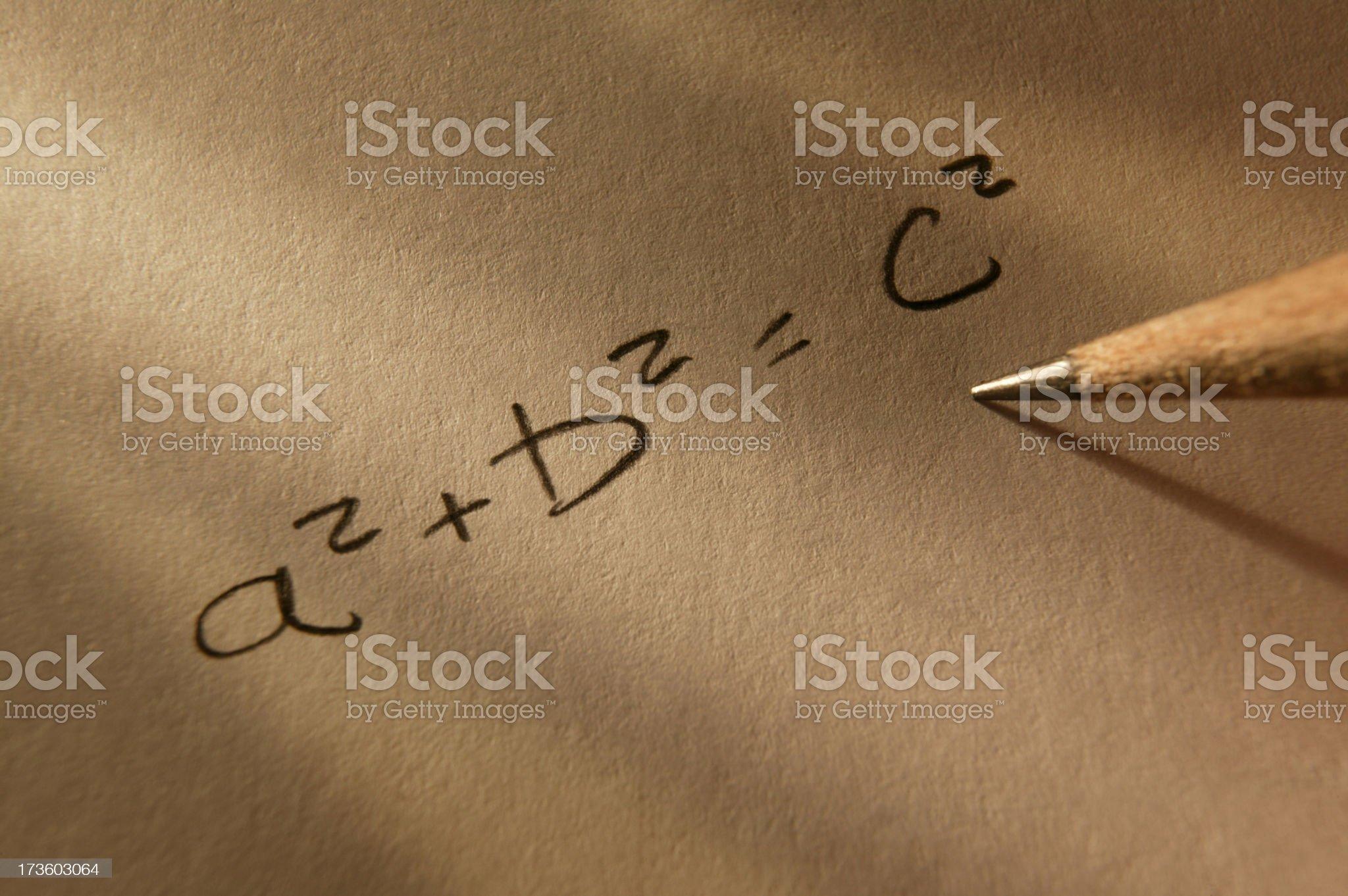 Pathagorean Theorem royalty-free stock photo