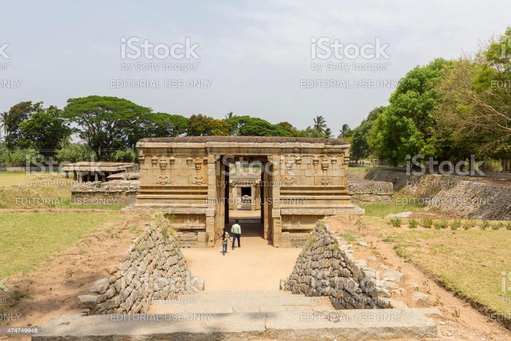 Pathaleshwara temple, Hampi, India stock photo