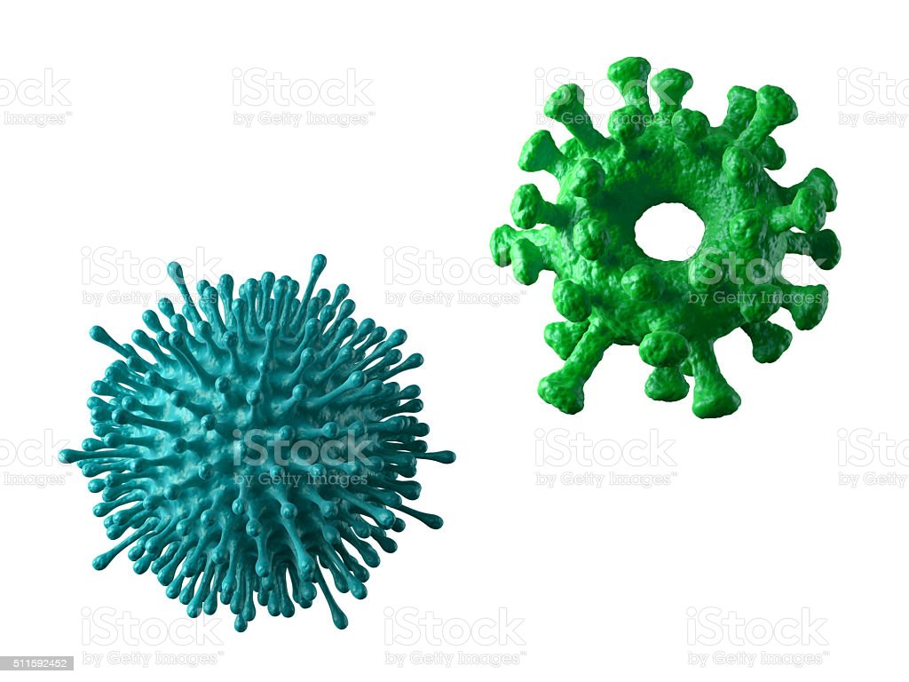 pathogenic organism, 3d abstract microbiological shapes, colorful virus cells, stock photo