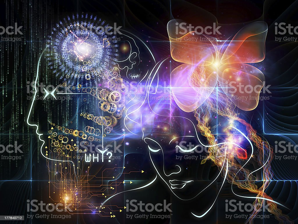 Paths of Intelligence royalty-free stock photo