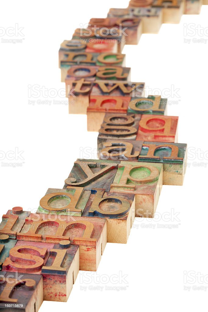pathway alphabet abstract stock photo