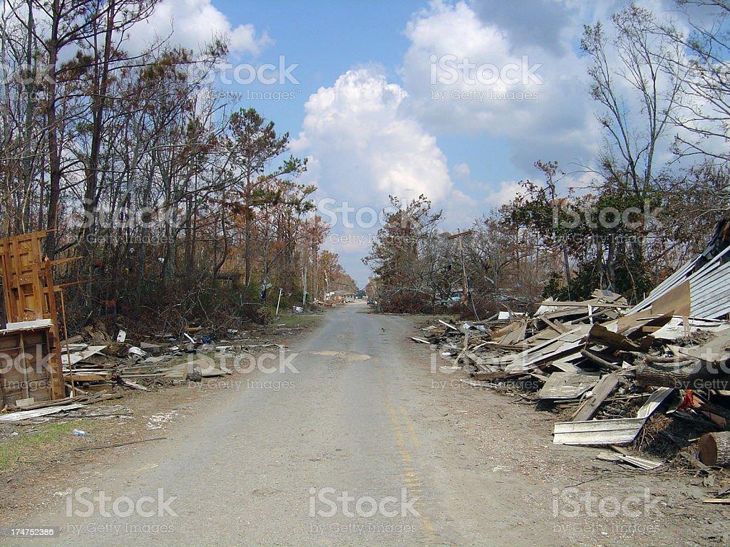 Pathway of Horror stock photo