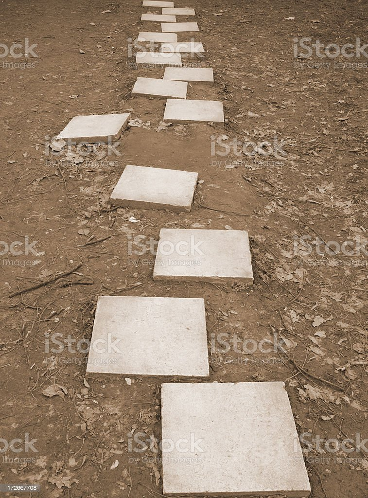 Pathway royalty-free stock photo