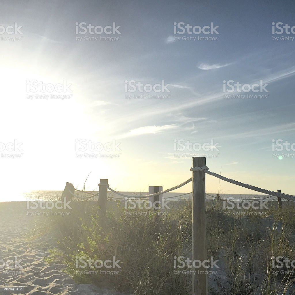 Pathway to a Sandy Island Beach - Mobile Stock stock photo