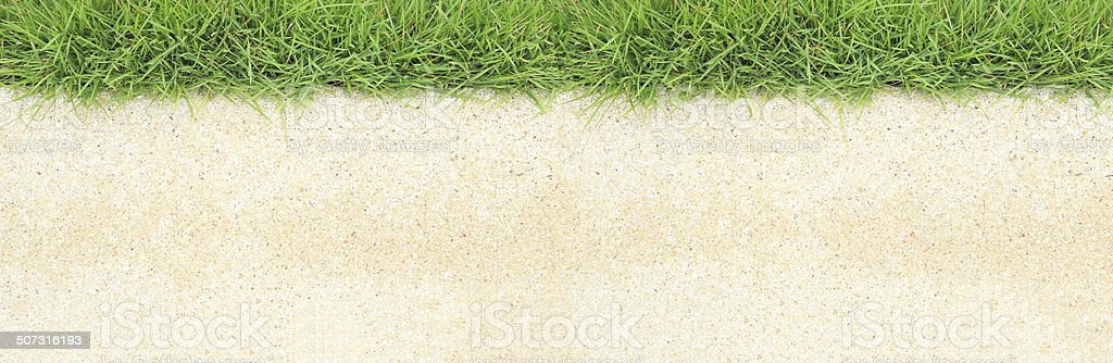 Pathway with natural green grass stock photo