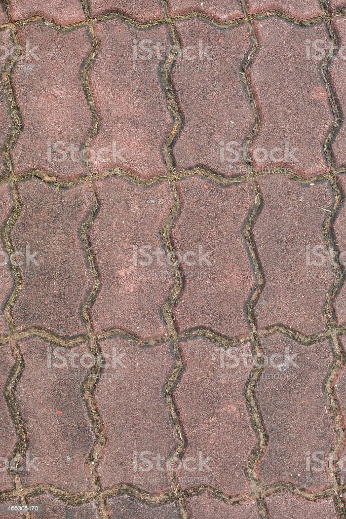 Pathways made from brick red abstract background stock photo