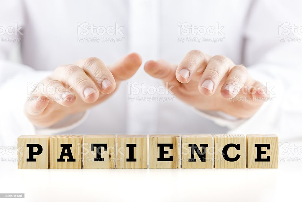 Patience stock photo