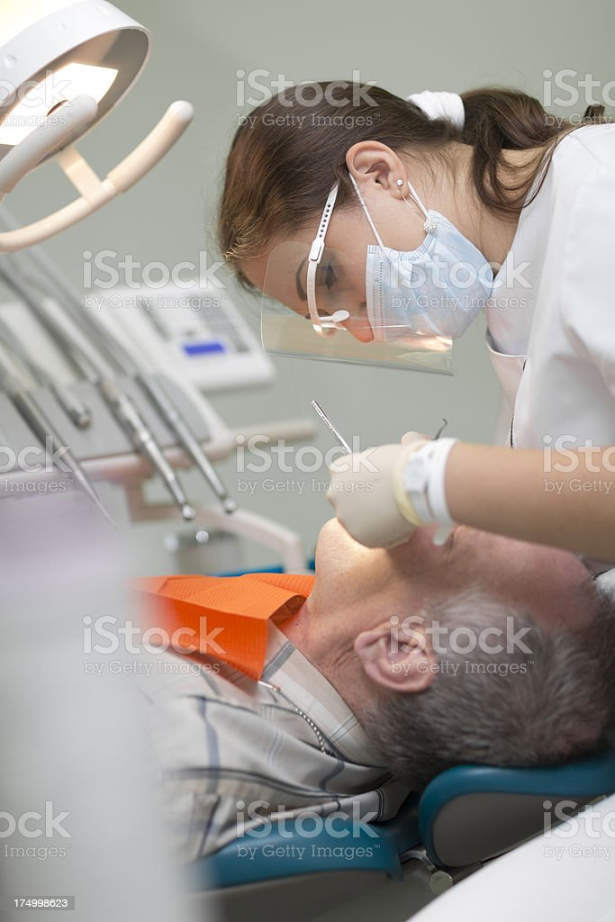 Patient and Dentist in Dental office royalty-free stock photo