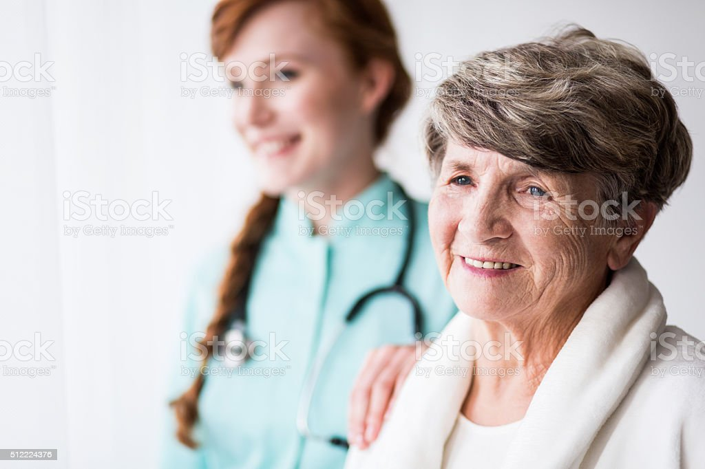 Patient and doctor stock photo