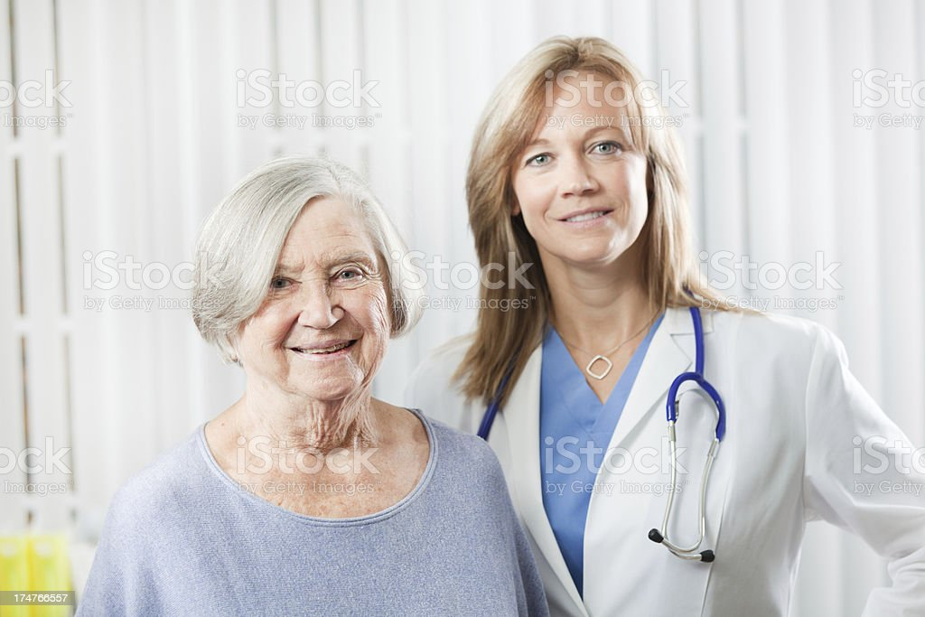 Patient and Physician in Medical Clinic Office  Hz royalty-free stock photo