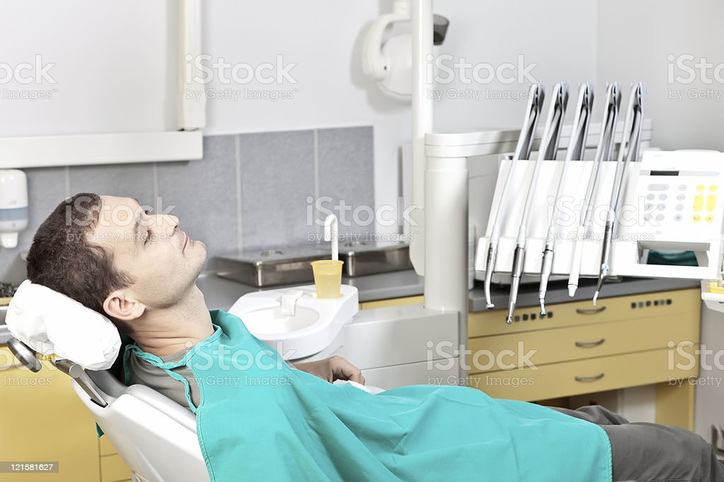 Patient at dental clinic stock photo