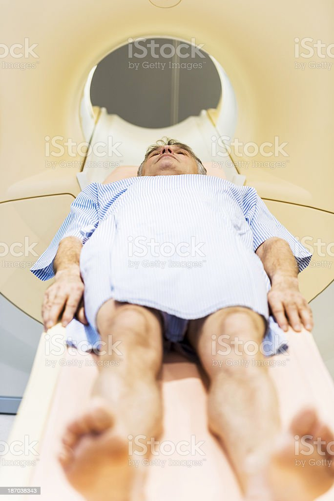Patient at MRI Scan. royalty-free stock photo