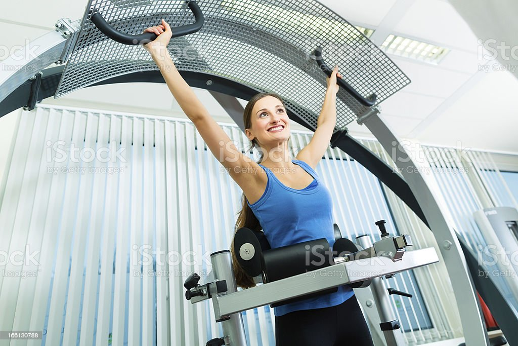 Patient at the physiotherapy doing physical therapy royalty-free stock photo
