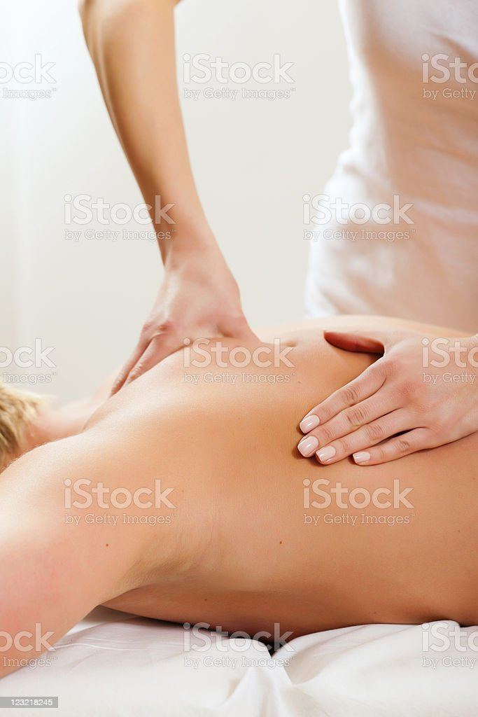Patient at the physiotherapy - massage royalty-free stock photo