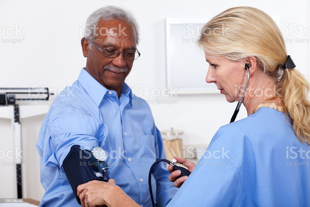 Patient Blood Pressure royalty-free stock photo