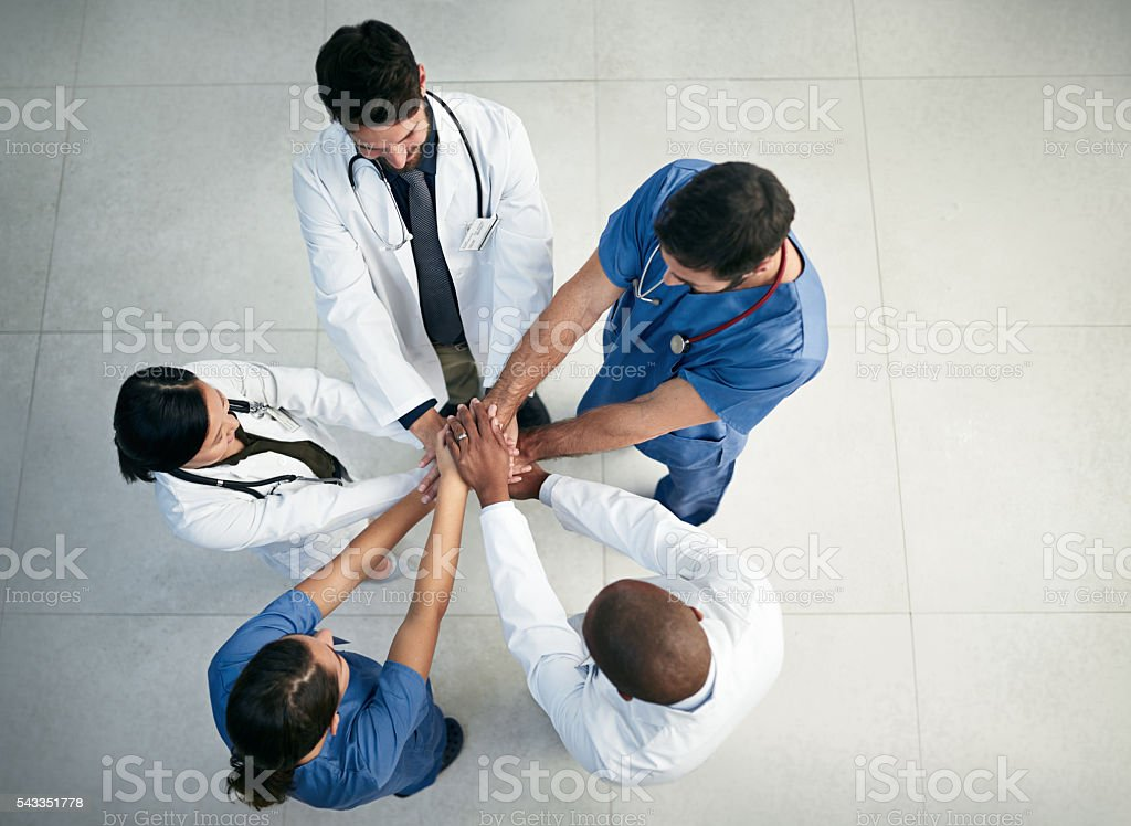 Patient care is a team effort stock photo