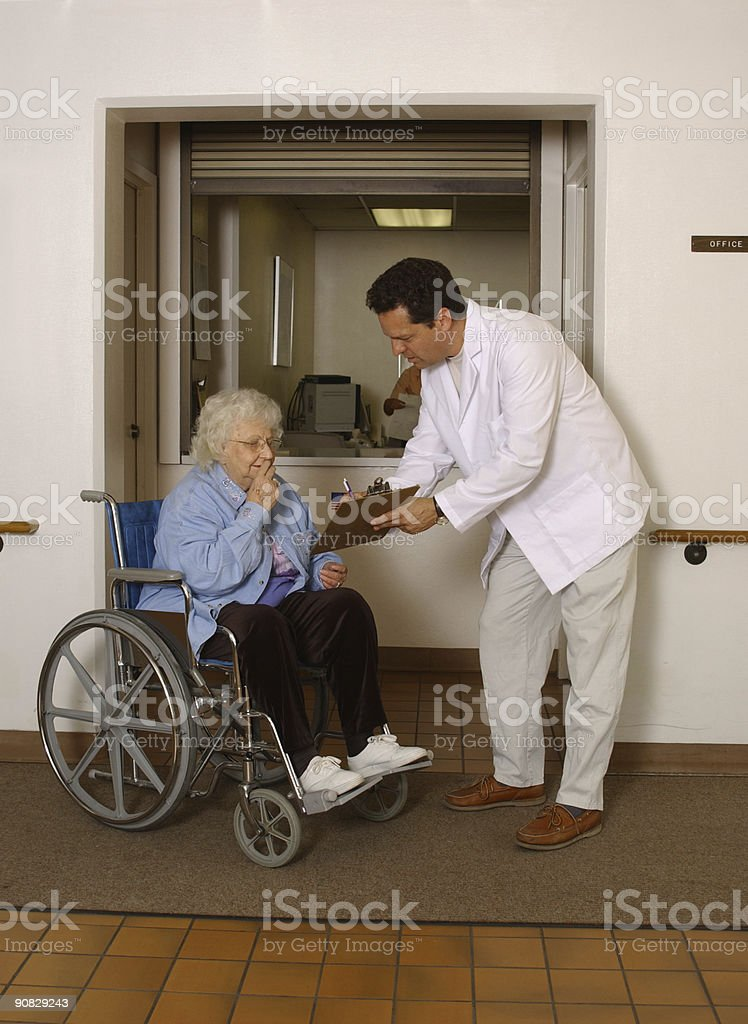 patient check-in stock photo