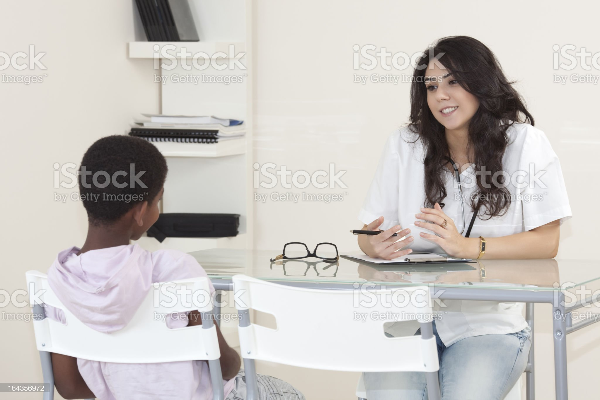 Patient child in doctor office. royalty-free stock photo