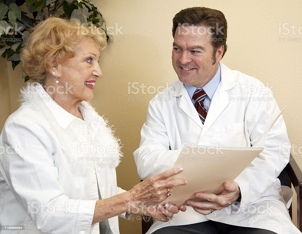 Patient Doctor Discussion royalty-free stock photo