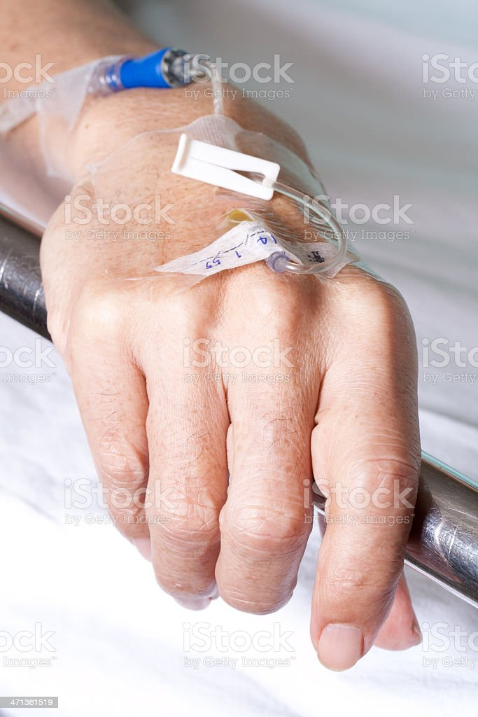 Patient hand royalty-free stock photo