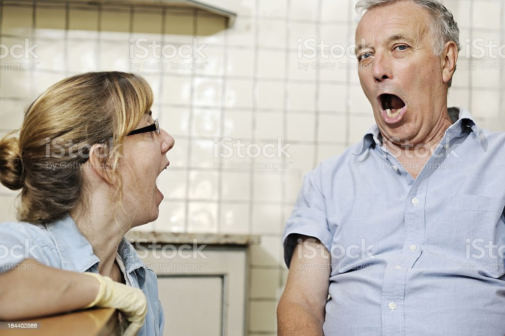 Patient has to say 'ah' royalty-free stock photo